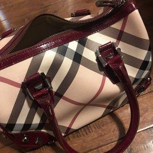 Female/Women Handbag Burgundy Creme Small/Medium